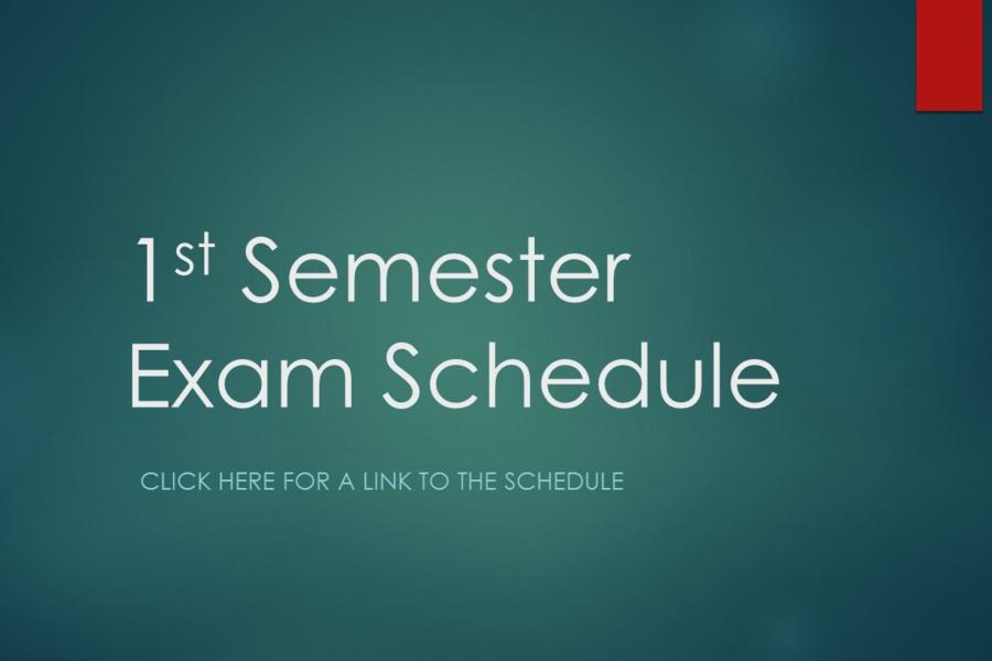 Click here for the exam schedule