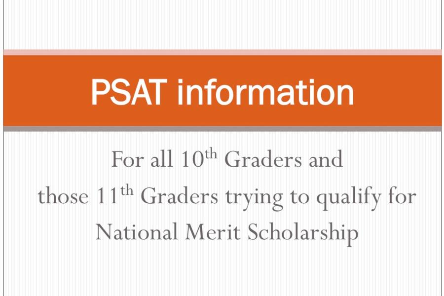 PSAT information- click here