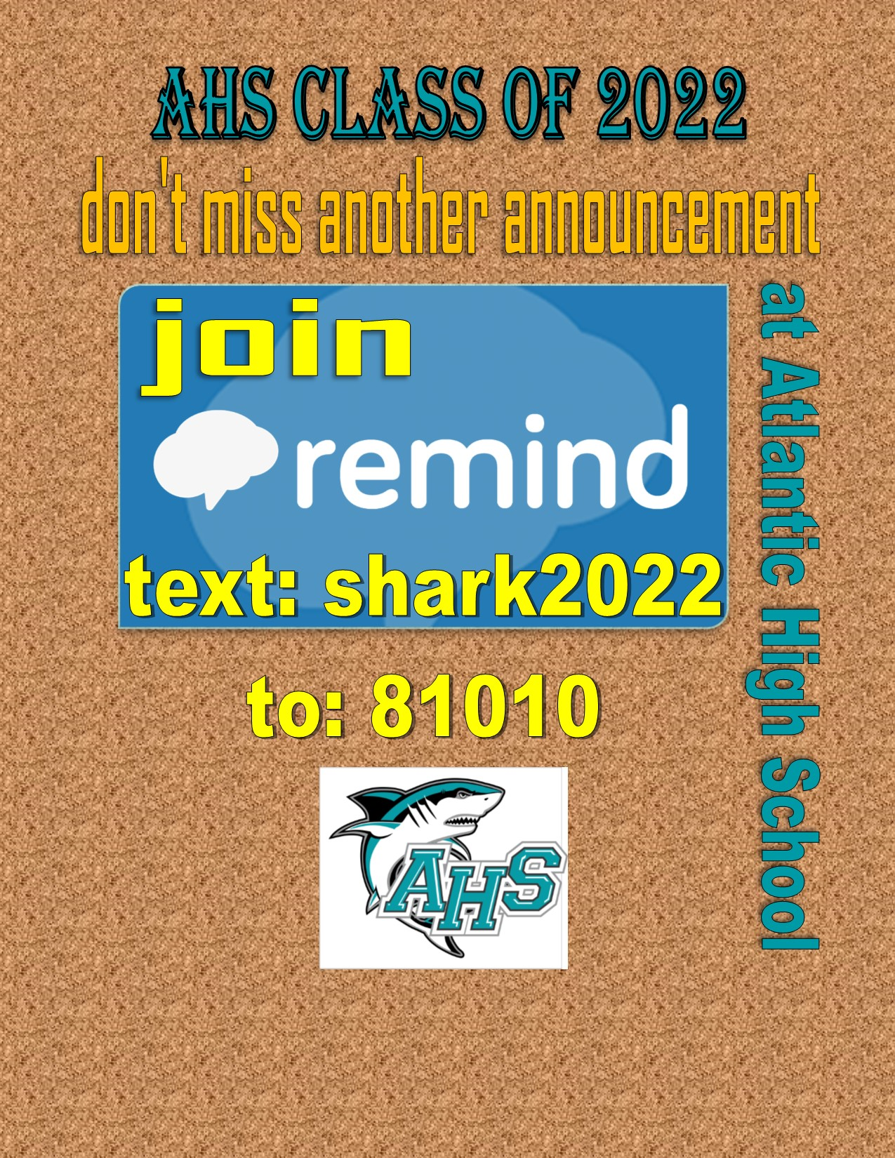 Sophomores join our remind group to get important school messages!